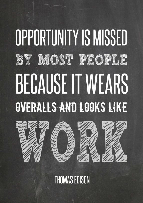 Thomas Edison Quote Minimalism Success by TheWatermelonFactory