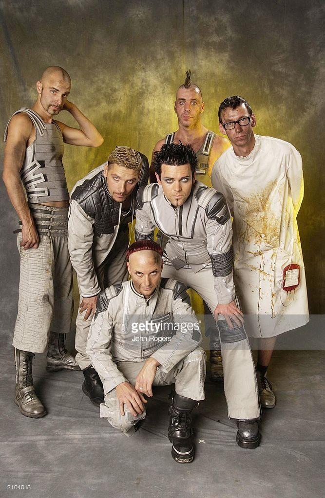 The German rock group Rammstein at the MTV European Music
