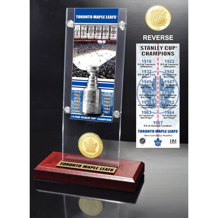 Toronto Maple Leafs Highland Mint 13-Time Stanley Cup Champions Ticket Acrylic - $31.99