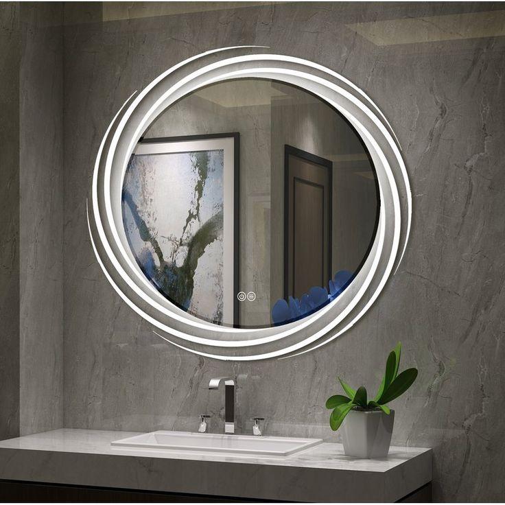 Monterey Back Lit LED Daylight Bathroom Mirror | Round ...