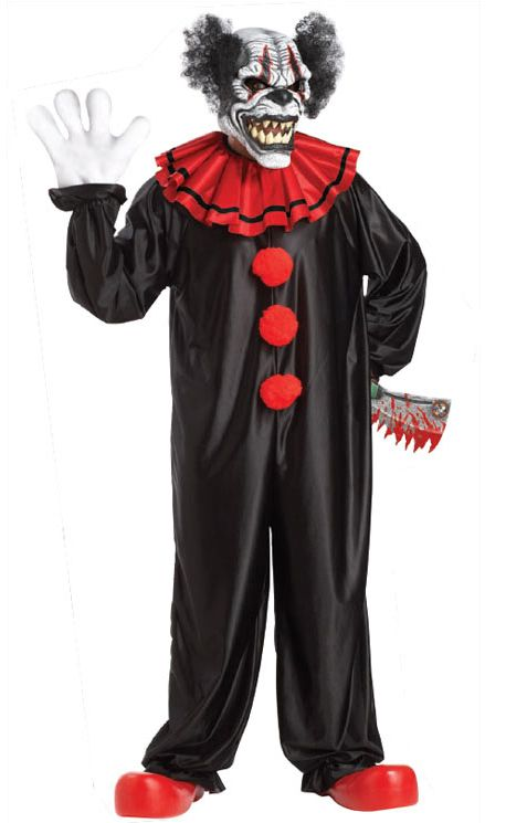 Last Laugh The Clown Halloween Costume With Animotion Mask