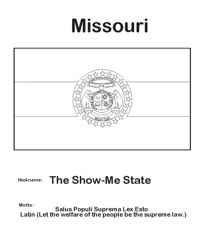 1000 Images About State Flags On Pinterest Ohio Flag Missouri State Flag Coloring Page