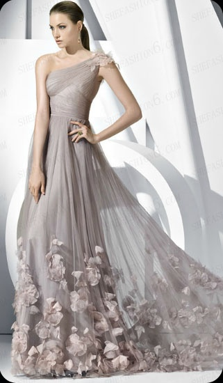 http://www.shefashion6.com  Item 2012SP0012   2012 One Shoulder Floor Length Tulle Cocktail Dress.png; Real top fabric, competitive price!!!