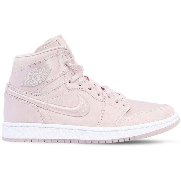 Nike Women Air Jordan 1 Retro High Top Sneakers ($235) ❤ liked on Polyvore featuring shoes, sneakers, silt red, nike shoes, red shoes, high-top sneakers, red high tops and red high-top sneakers