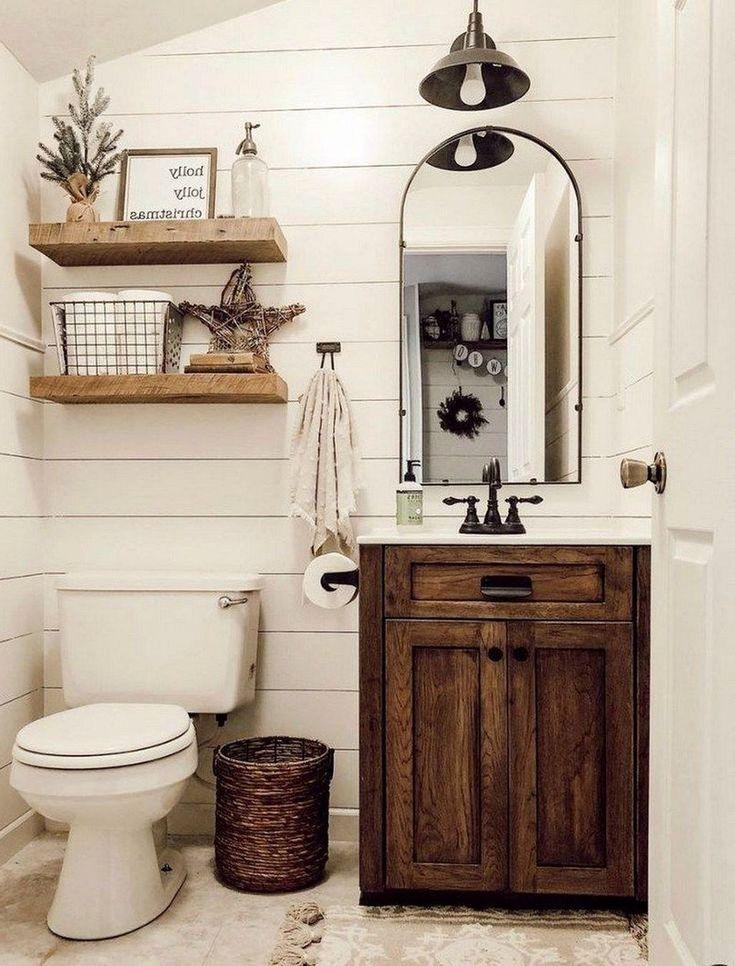 20 Small Bathroom Decor Ideas 16 With White Wall Decoration Best Home Design Ideas In 2021 Bathroom Design Small Small Bathroom Vanities Bathroom Design