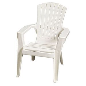 Adirondack Outdoor Resin Chair White $39.95 at Masters or 2 for $60.  Other colours.