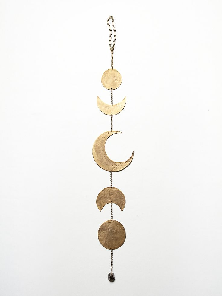 Moon Phases Chime - could made so easily. Think I'll do mine in silver (orig. Free People Gold Moon Chime, $178.00)