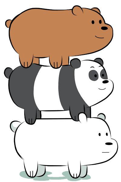 "We Bare Bears - Grizzly ""Grizz"", Panda, Ice Bear"