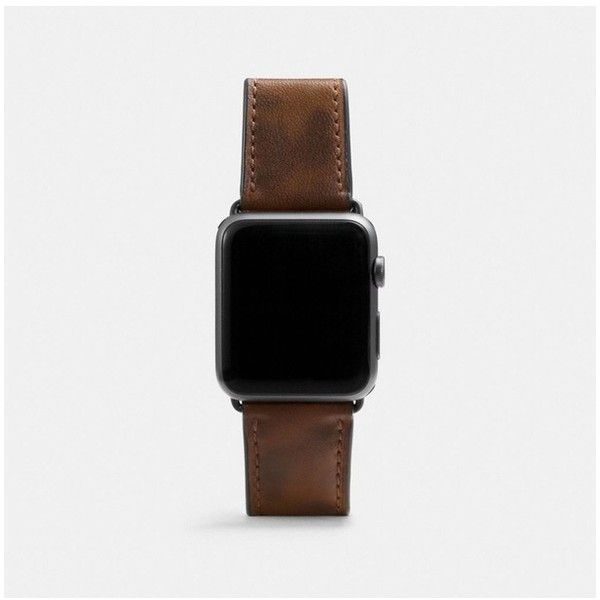 Coach Apple Watch Strap With Camo Print (2,795 MXN) ❤ liked on Polyvore featuring jewelry, watches, accessories, natural, camouflage jewelry, camo watches, coach jewelry, leather-strap watches and camo jewelry