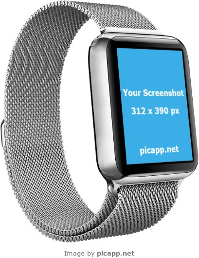 This Apple Watch Mockup is just what you were looking for to showcase your iOS app right? You don't need to spend a lot of time or money to put your screenshot in this gorgeous and elegant Apple Watch because Picapp.net is here to help you. All you have to do is to upload your screenshot on Picapp.net and you're done!  #apple #nobackground #mockup #AppleWatch #smartwatch #picapp