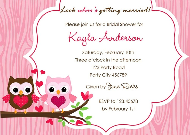 printable owl invites, use a different color