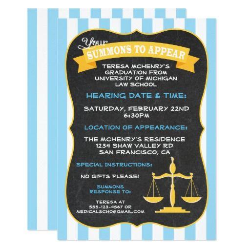 Best Law School Graduation Invitations Images On