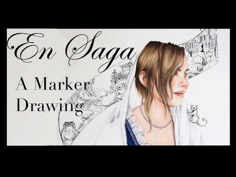 En Saga, a marker drawing