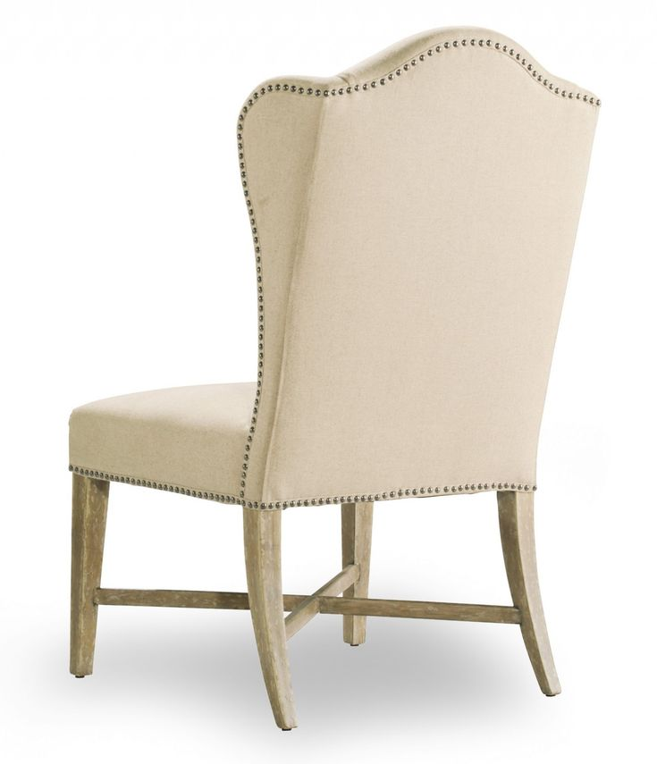 Furniture-chairs-Beautiful-creamy-leather-wingback-dining ...
