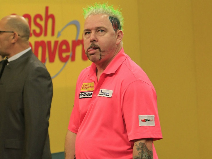 Peter Wright is a colourful character on the oche.