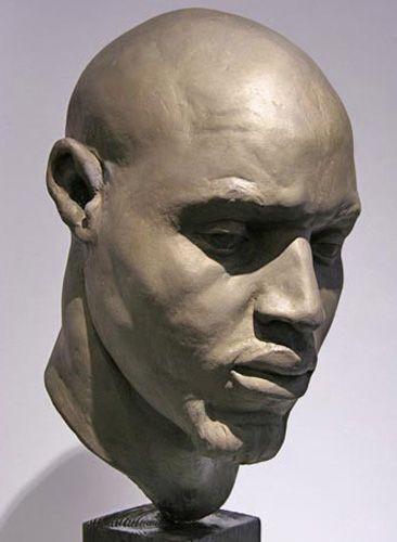 "Mason Sullivan bust plaster sculpture ""Moudou"""