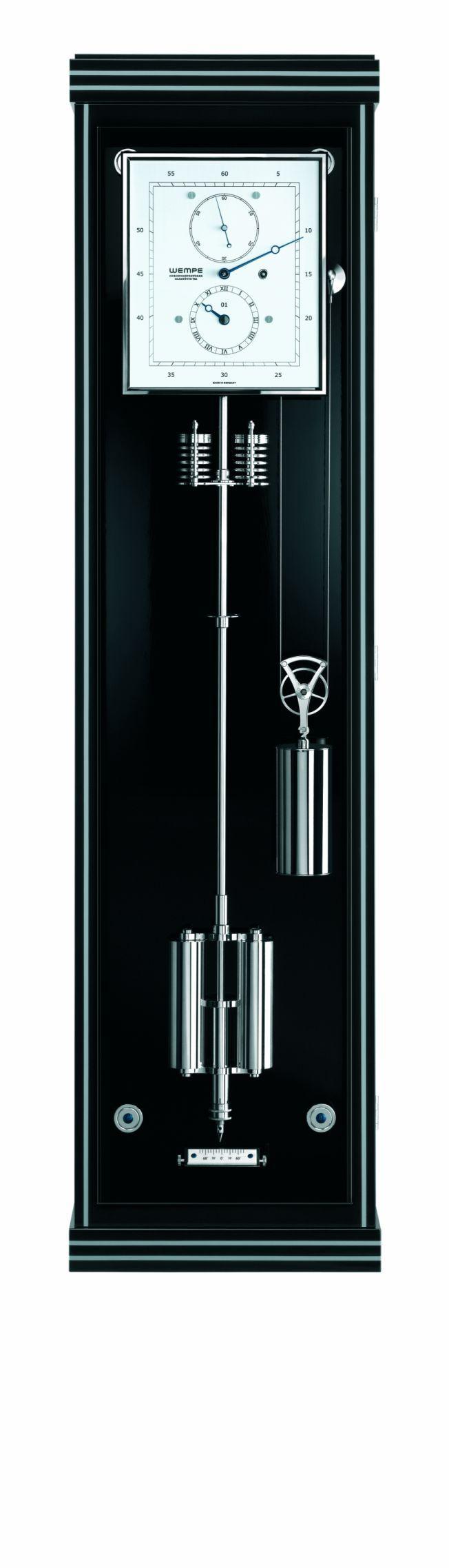 TimeZone : Industry News » N E W M o d e l - Wempe Glashütte i/SA: Chronometerwerke Precision Pendulum Clock