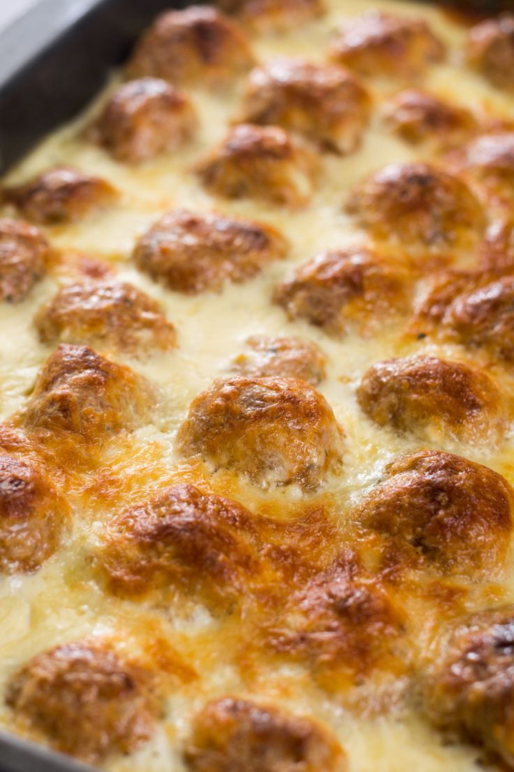 Cheesy Oven-Baked Meatballs – 12 Tomatoes
