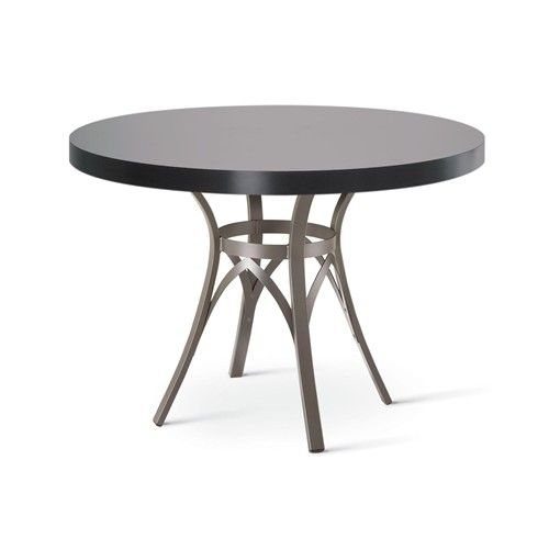 Amisco Kai Dinette Round Dining Table With Interlaced