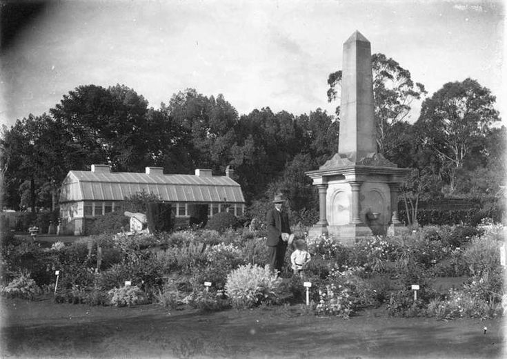 The gardens have come a long way since this. Cenotaph in the Botanic Gardens in Toowoomba