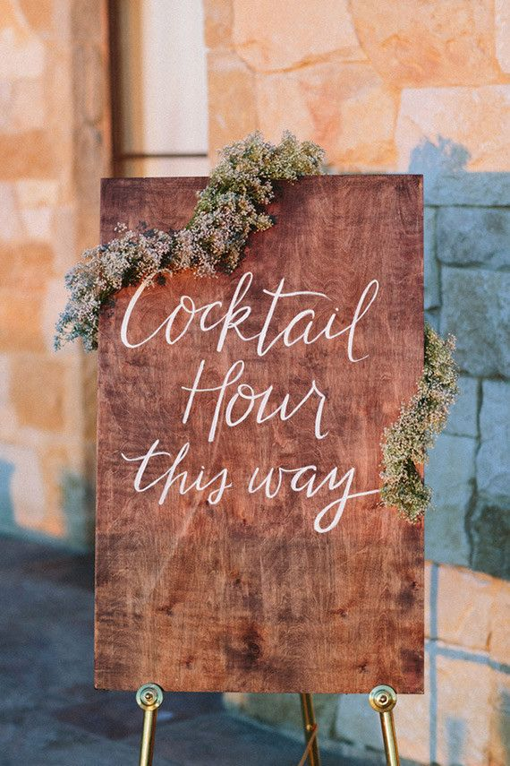 how gorgeous is this lavender-laced cocktail hour sign?! dreamy!| {via 100 Layer Cake}