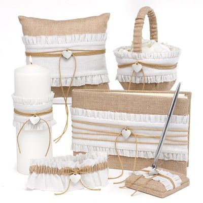 burlap beauty accessories collection | ceremony necessities | Invitations by Dawn at Invitations By Dawn