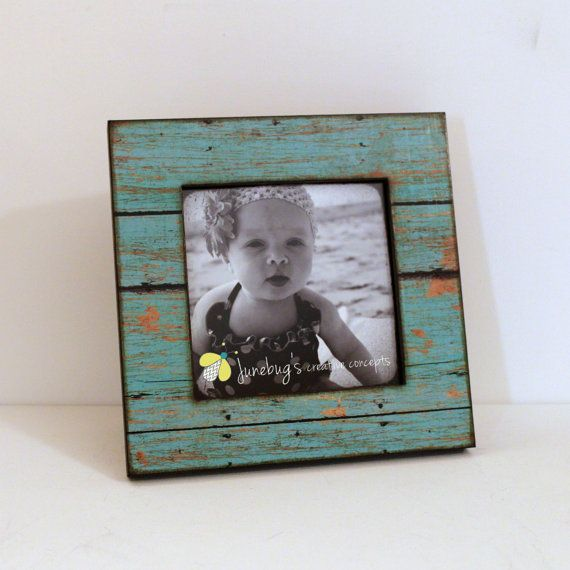 for ig pix 5x5 square wood photo frame weathered rustic by junebugscc on etsy