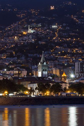 Funchal City at Night, Madeira Island - Portugal