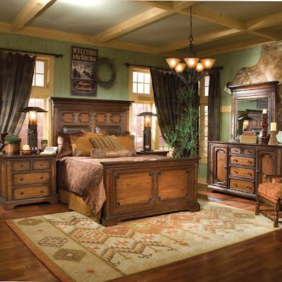 Marvelous American West Bedroom Furniture Collection I Like Wall Color. Find This Pin  And More On Western Decor Ideas ...