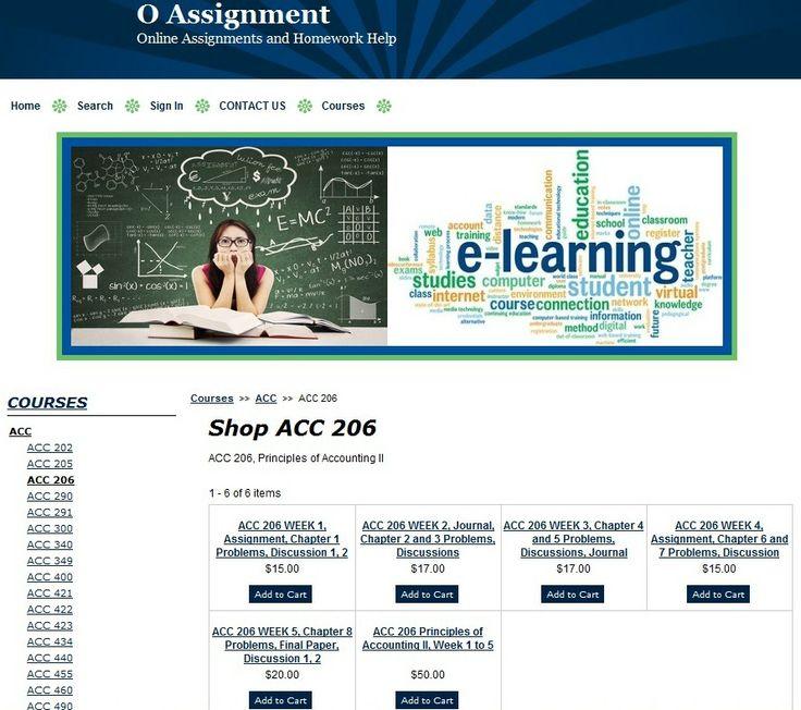 ACC 206 Principles of Accounting II, Week 1 to 5