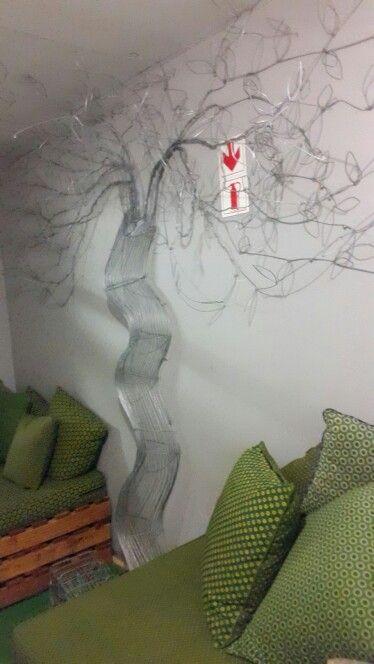 Wire Tree art at Soweto TV studios.