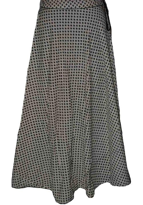 Grey Coloured Block Print Jaipuri Wraparound Skirt  http://alicolors.com/index.php?route=product/product&product_id=1172
