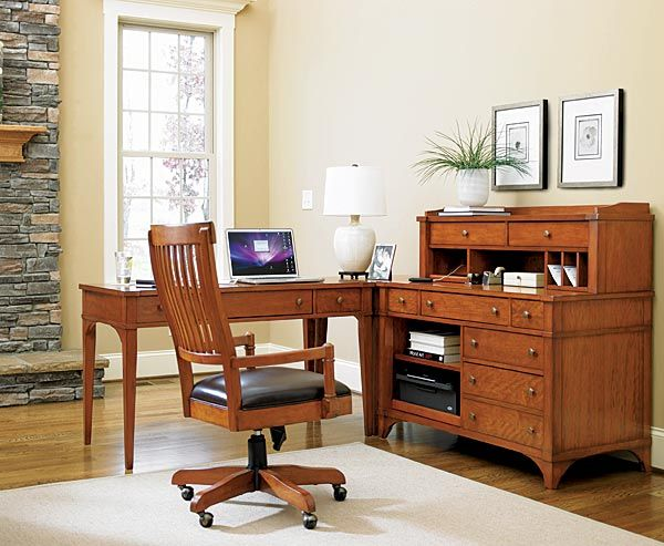 Mission style home office furniture type for Craftsman style office