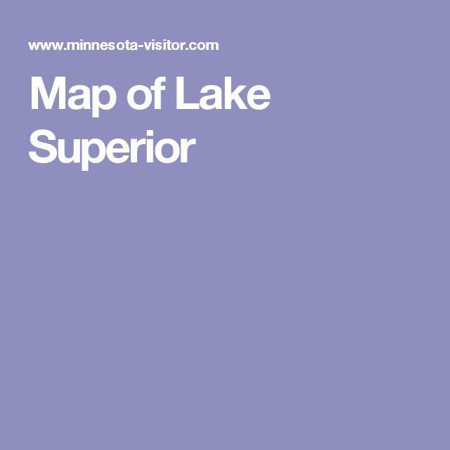 Map of Lake Superior