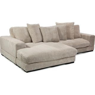 this is corduroy so it could withstand messes Polk Cappuccino Sectional - Overstock™ Shopping - Big Discounts on Sectional Sofas