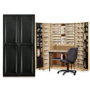 original scrapbox workbox scrapbooking craft desk armoire from scrapbooking pinterest. Black Bedroom Furniture Sets. Home Design Ideas