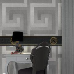 Versace Greco, la clé grecque est à l'honneur !  Elle se décline en version gris manet pour une décoration grandiose et pleine de caractère.  Votre décoration se pare de ses plus beaux atours avec nos collections luxe. Intemporelles, originales et somptueuses, elles se déclinent en papiers peints, peinture, rideaux et décors numériques qui illuminent et enjolivent murs et fenêtres.