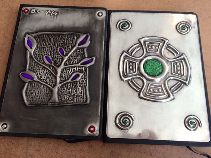 Journals made in a beginner class at The Pewter Room www.thepewterroom.co.za