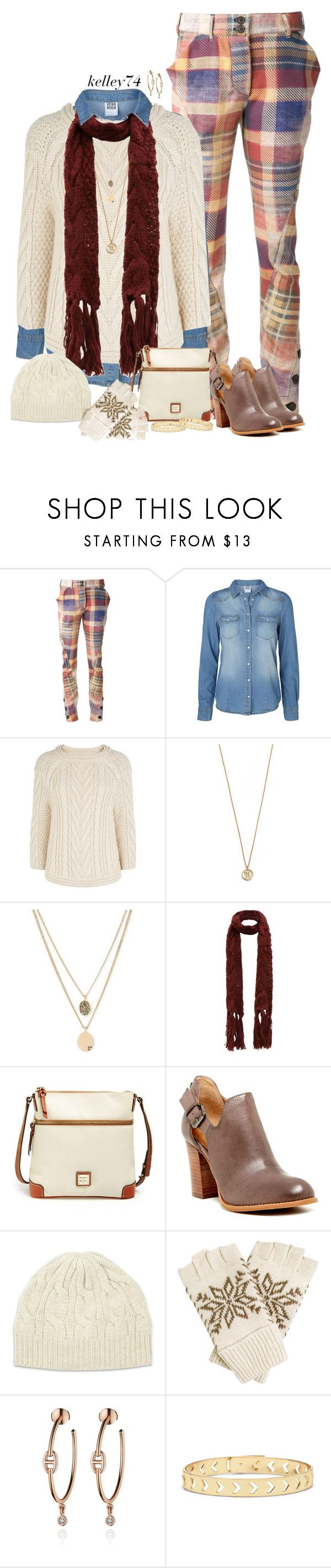 """""""Denim Under A Sweater"""" by kelley74 ❤ liked on Polyvore featuring Vivienne Westwood Anglomania, Vero Moda, Monsoon, Samantha Wills, Kenneth Cole, Dooney & Bourke, 14th & Union, Johnstons of Elgin and Sole Society"""