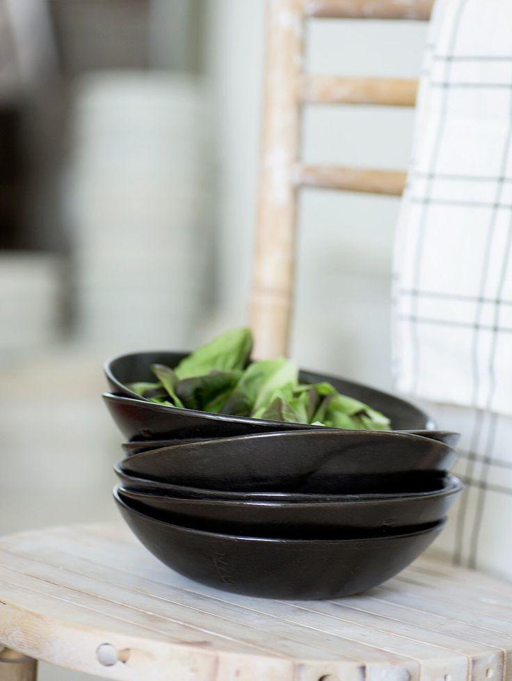 Black Serving Bowls, Set For 4, Pasta Bowl, Black Ceramic Bowls, Pottery Wedding Gift,Housewarming Gift by 1220CeramicsStudio on Etsy https://www.etsy.com/listing/247008970/black-serving-bowls-set-for-4-pasta-bowl