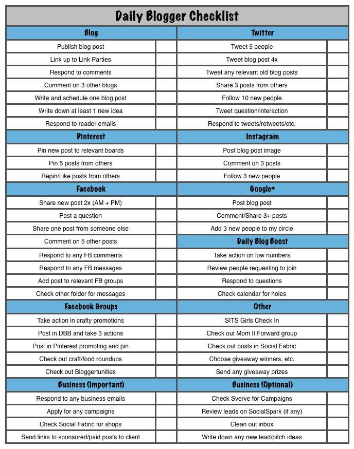 Restaurant Mag Blogger Theme Para Blogger Pinterest Blogger - creating checklist