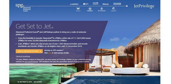 Jet Airways' JetPrivilege announces new rewarding partnership with Starwood Preferred Guest.