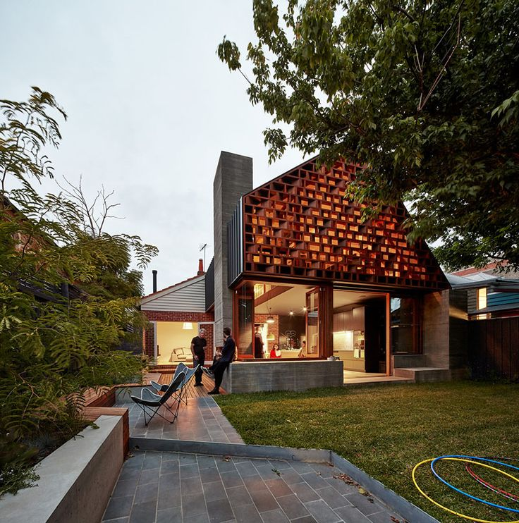 MAKE Architect's description: A large part of the inspiration for the extension of this St Kilda Californian Bungalow comes from thinking about how this family live and connect with their community.