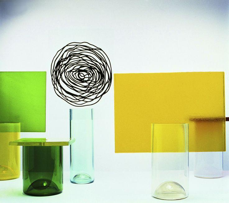 Pierre Charpin, Collection Torno subito, Séries écran et lisse, 1998-2001 | Photograph  © Jean-Louis Elzéard, CIRVA | #glass #glasswork #design #mudac