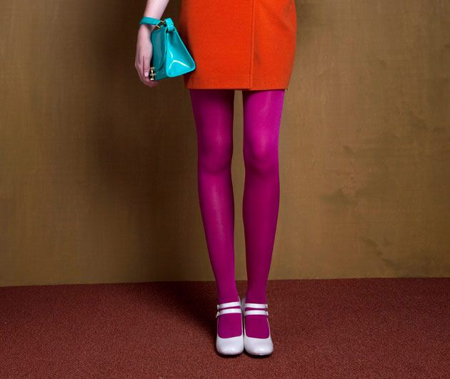 I secretly wish I had the nerve to try to pull off the purple tights. I have the red skirt!