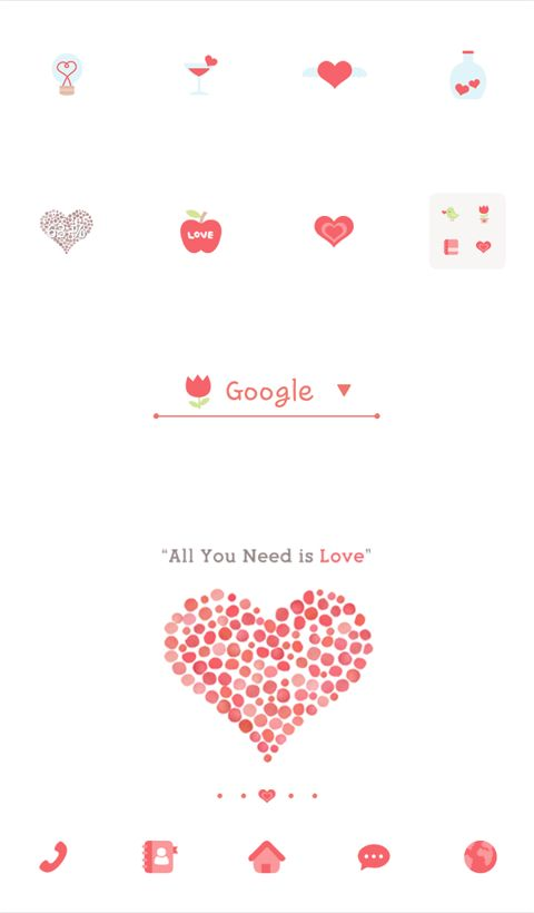 "[New Theme] ""All You Need is Love by Dodol Launcher"" All you need is love & All your smartphone need is this dodol theme!"