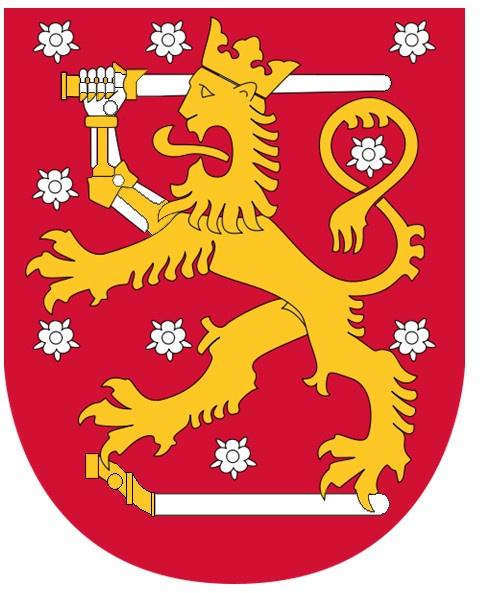 Suomen vaakuna. Finnish Coat of Arms
