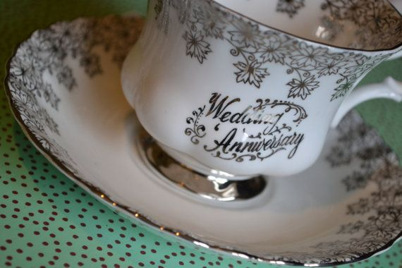 Wedding Anniversary by Royal Albert Teacup and by TheTeacupAttic