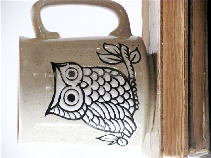 Vintage Owl Coffee Mug, Owl Lover Gift, Owl Collectible, Owl Decor, Teacher Gift.