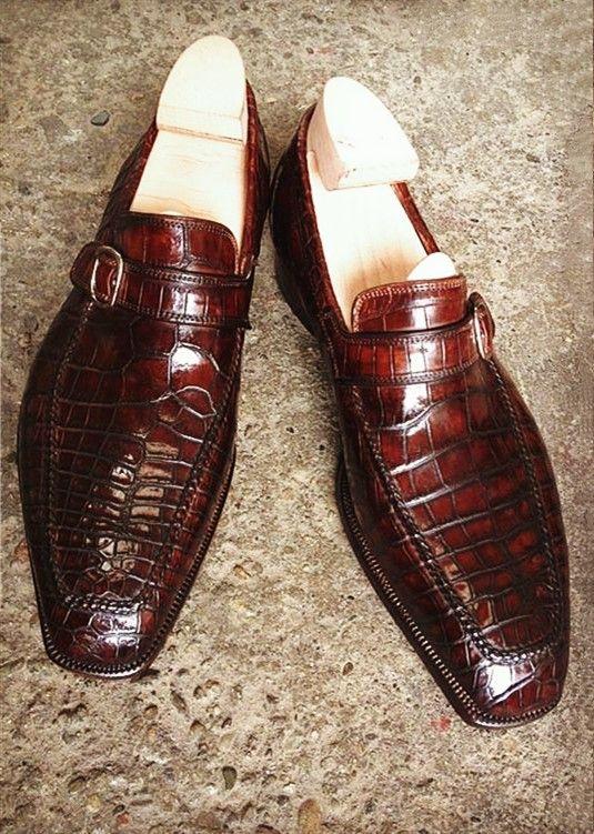 115f39ee87cf3 Alligator Slip-On Loafers for Men